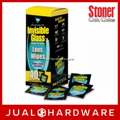 STONER Invisible Glass Lens Wipes - 40 Wipes