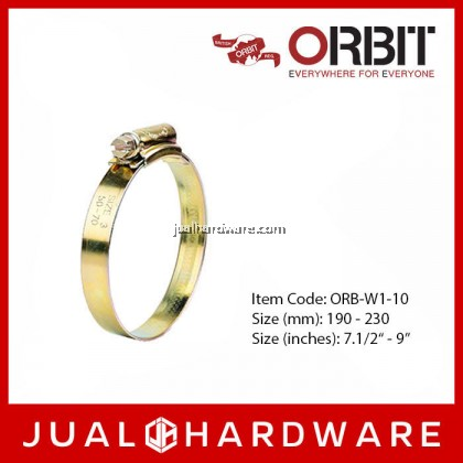 ORBIT Steel Hose Clip W1 Size 10 190mm - 230mm (5 pcs)