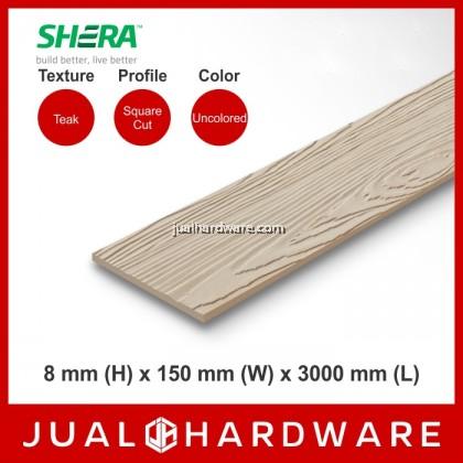 SHERA Plank - Teak / Square Cut (8mm x 150mm x 3000mm) - 5PCS
